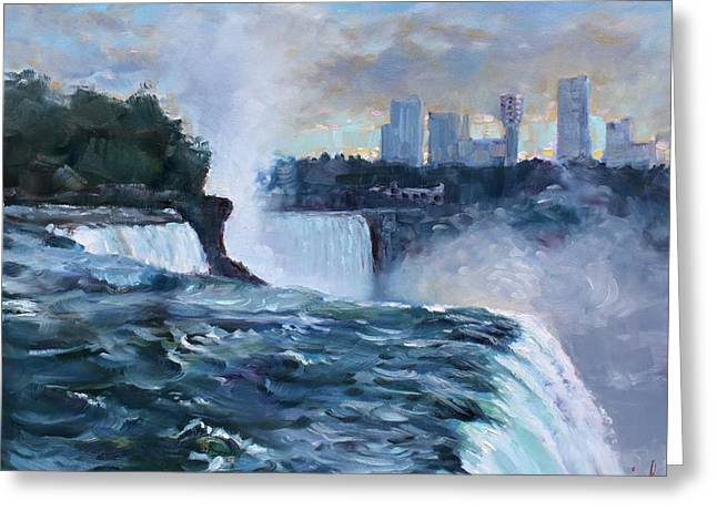 Casinos Greeting Cards - Niagara Falls Greeting Card by Ylli Haruni