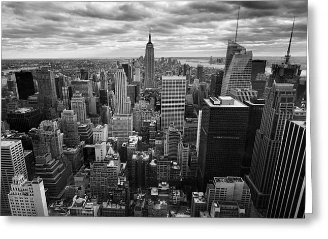 Papiorek Greeting Cards - NYC Empire Greeting Card by Nina Papiorek