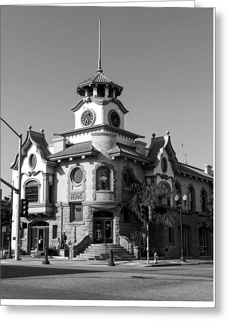 Gilroy Greeting Cards - Old City Hall - Gilroy California Greeting Card by Mountain Dreams