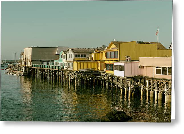 Sailboat Photos Greeting Cards - Old Fishermans Wharf Pier Greeting Card by Mountain Dreams