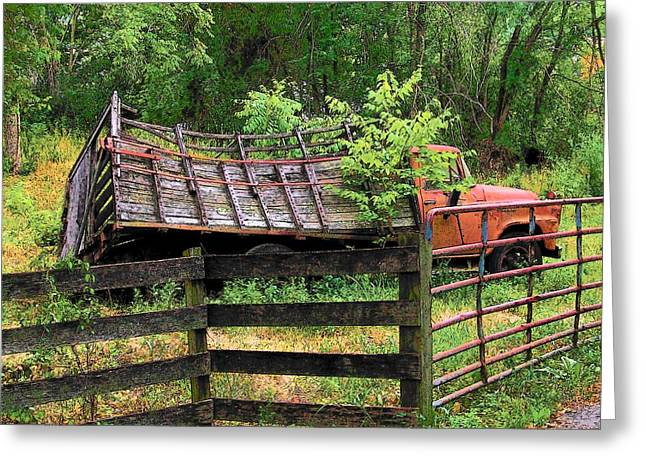 Old Trucks Greeting Cards - Old Truck Greeting Card by Michael L Kimble