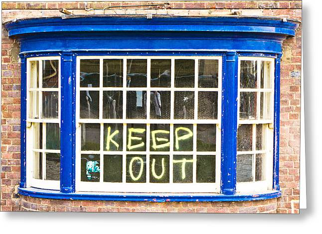 Building Feature Photographs Greeting Cards - Old window  Greeting Card by Tom Gowanlock