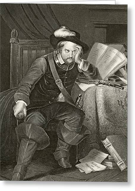 Cromwell Greeting Cards - Oliver Cromwell 1599 To 1658. English Greeting Card by Ken Welsh