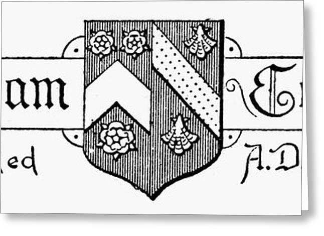 Engraving Greeting Cards - Oxford: Coat Of Arms Greeting Card by Granger