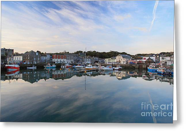 Padstow Greeting Card by Carl Whitfield