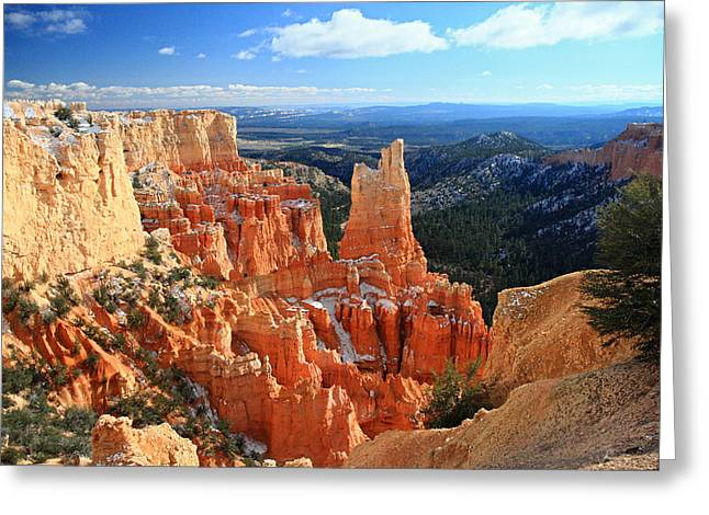 Road Trip Greeting Cards - Paria Point in Bryce Canyon Greeting Card by Pierre Leclerc Photography