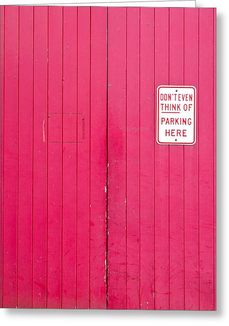 Parking Sign Greeting Card by Tom Gowanlock