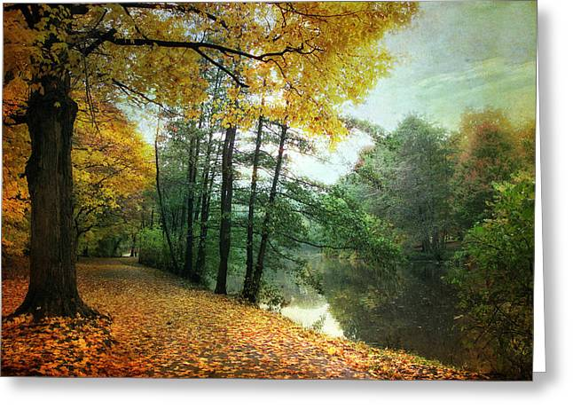 Peaceful Path Greeting Card by Jessica Jenney