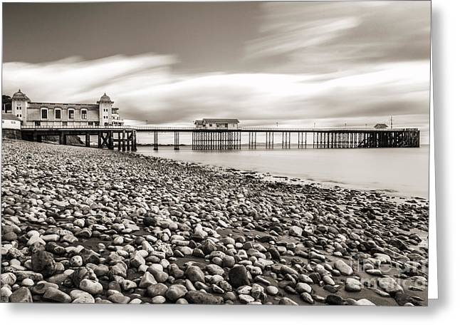 Iron Greeting Cards - Penarth Pier 4 Greeting Card by Steve Purnell