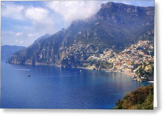 Positano Greeting Cards - Positano - Amalfi Coast Greeting Card by Joana Kruse