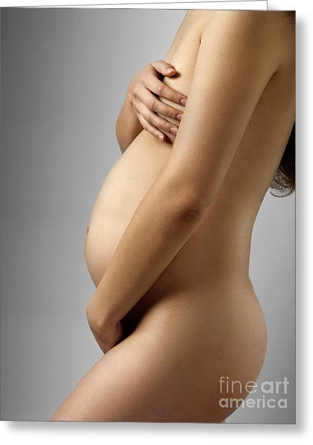 Pregnant Woman Greeting Card by Oleksiy Maksymenko