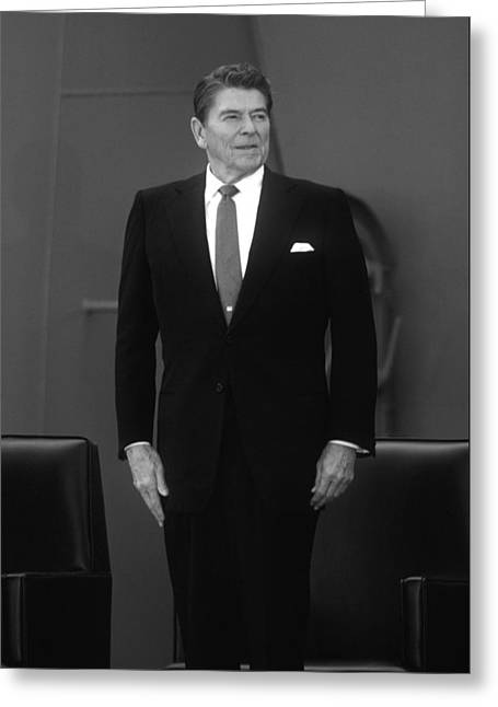 Stored Photographs Greeting Cards - President Ronald Reagan Greeting Card by War Is Hell Store