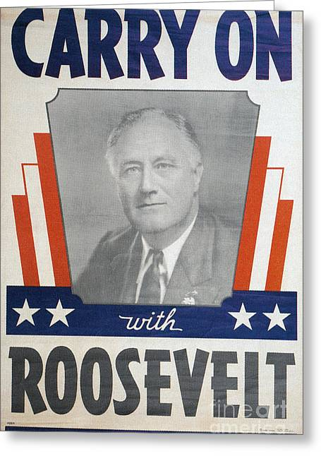 Franklin Greeting Cards - Presidential Campaign, 1940 Greeting Card by Granger