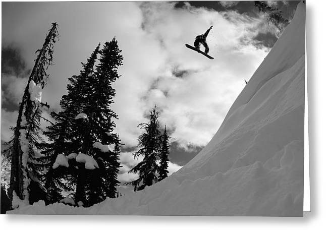 Extreme Lifestyle Greeting Cards - Professional Snowboarder, Kevin Pearce Greeting Card by Dean Blotto Gray