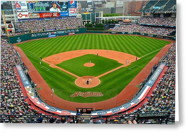 Progressive Field Greeting Cards - Progressive Field Greeting Card by Frozen in Time Fine Art Photography
