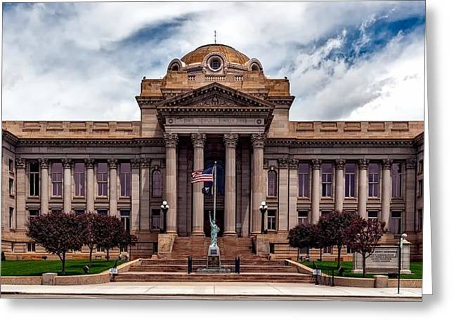 Pueblo County Courthouse Greeting Card by Mountain Dreams