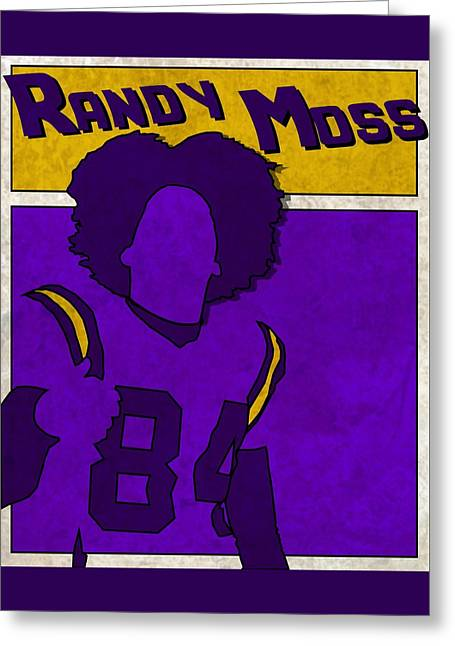 Randy Moss Greeting Card by Kyle West
