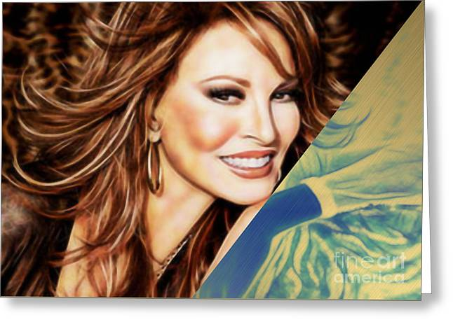 Raquel Welch Collection Greeting Card by Marvin Blaine