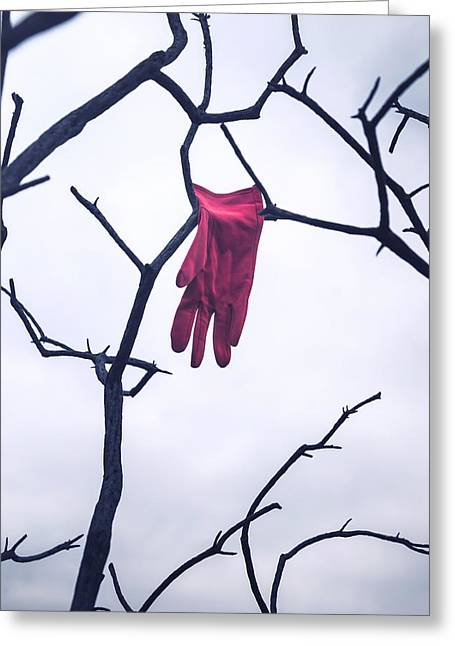 Recently Sold -  - Glove Greeting Cards - Red Glove Greeting Card by Joana Kruse