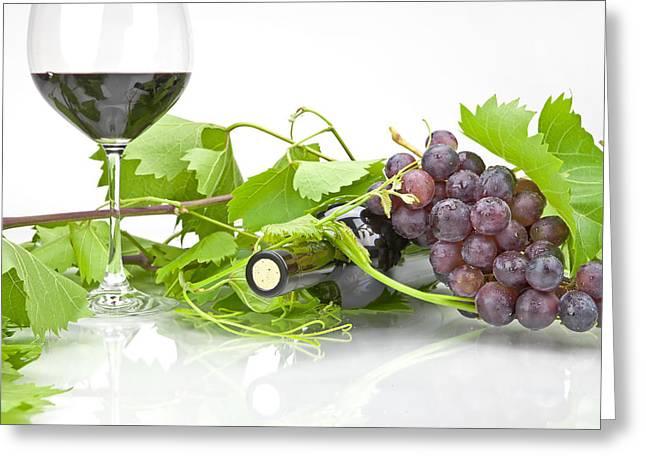 Red wine Greeting Card by Joana Kruse