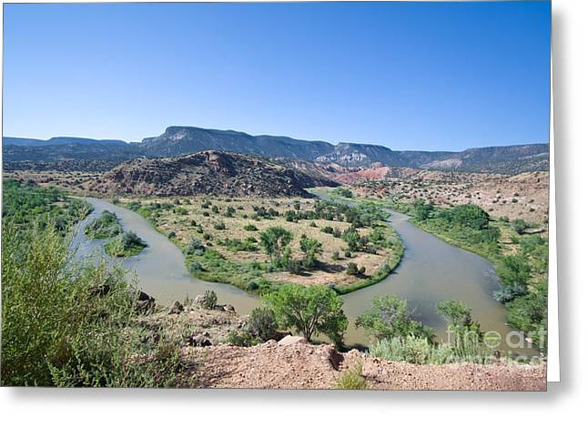 Chama River Greeting Cards - Rio Chama River  Greeting Card by Jim Pruitt