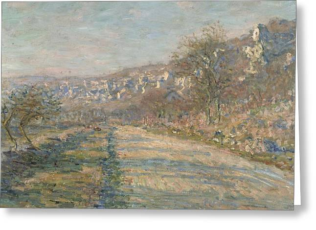 Road Of La Roche Guyon Greeting Card by Claude Monet
