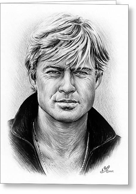 Robert Redford Greeting Card by Andrew Read