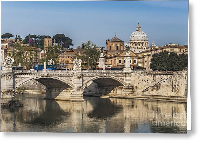 Basilica Di San Pietro Greeting Cards - Rome Italy Greeting Card by Gunter Kirsch