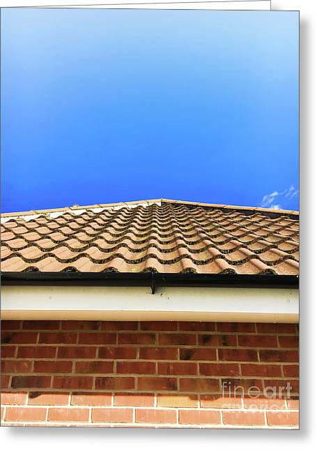 Rent House Greeting Cards - Roof tiles Greeting Card by Tom Gowanlock