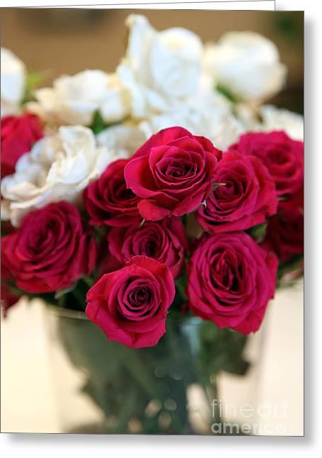 Roses Greeting Card by Amanda Barcon
