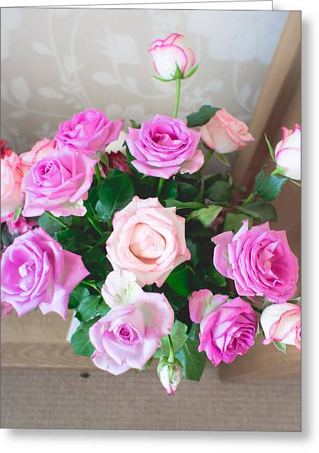 Rosy Greeting Cards - Roses Greeting Card by Tom Gowanlock