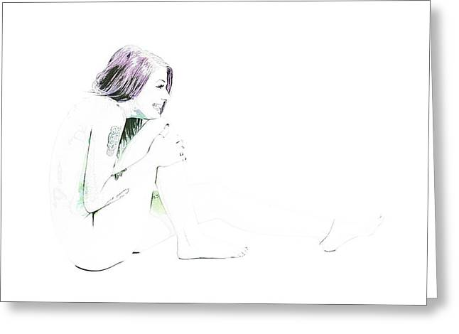 Erotic Greeting Cards - Rosie Nude Fine Art Print from Painting in Sensual Sexy Color 47 Greeting Card by Kendree Miller