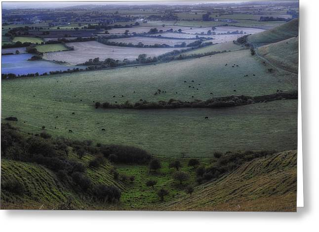 Roundway Hill - England Greeting Card by Joana Kruse