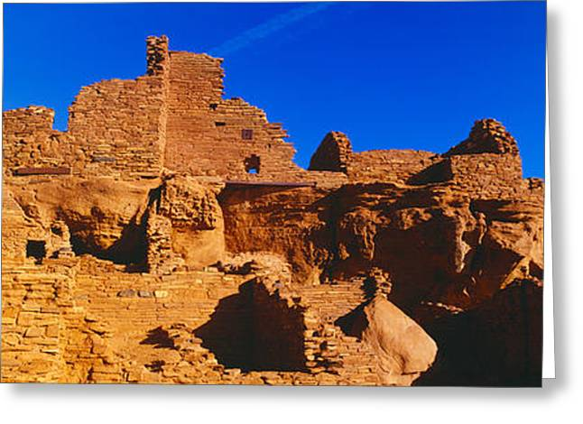 Hopi Indian Greeting Cards - Ruins Of 900 Year Old Hopi Village Greeting Card by Panoramic Images
