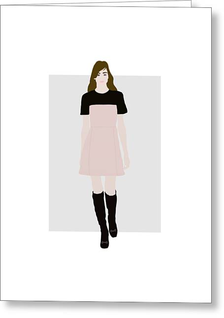 Runway Model 2 Greeting Card by Priscilla Wolfe