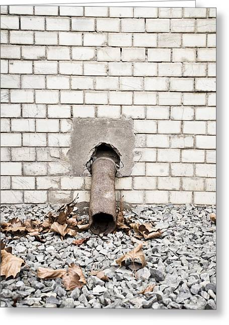 Conditions Greeting Cards - Rusty drainpipe Greeting Card by Tom Gowanlock