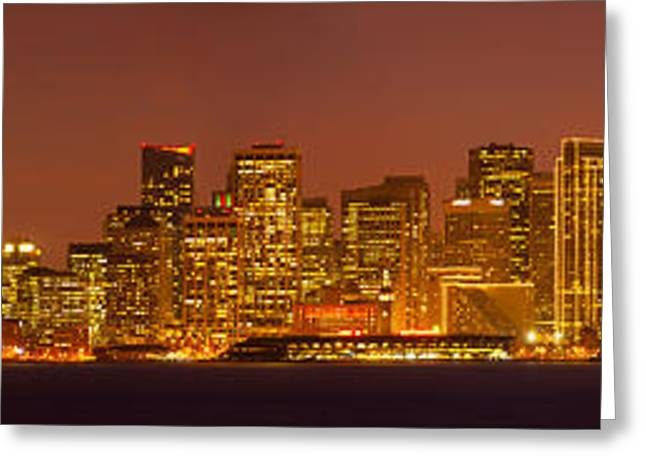 California Ocean Photography Greeting Cards - San Francisco Financial District Greeting Card by Panoramic Images
