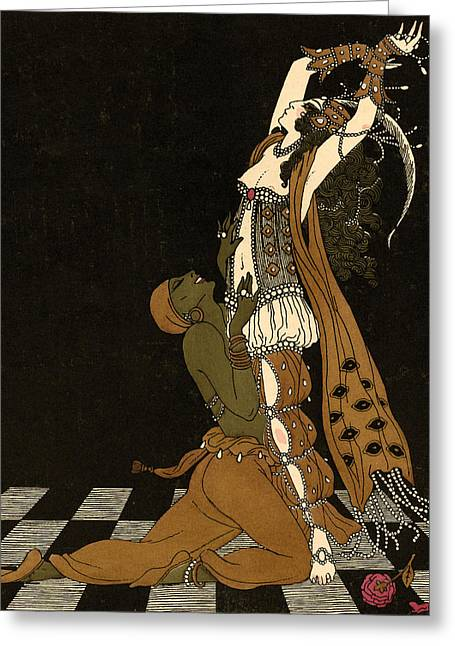 Beaux-arts Greeting Cards - Scheherazade Greeting Card by Georges Barbier