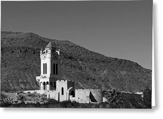 Scrub Brush Greeting Cards - Scottys Castle In Death Valley Greeting Card by Mountain Dreams