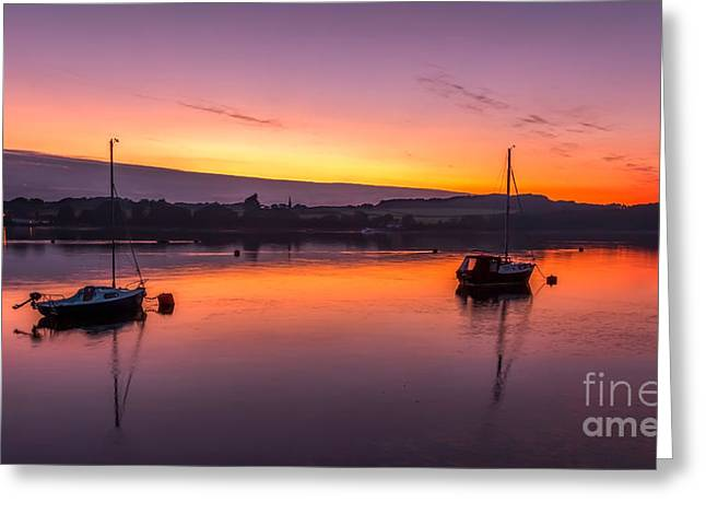 Greeting Cards - Seascape Sunset Greeting Card by Adrian Evans