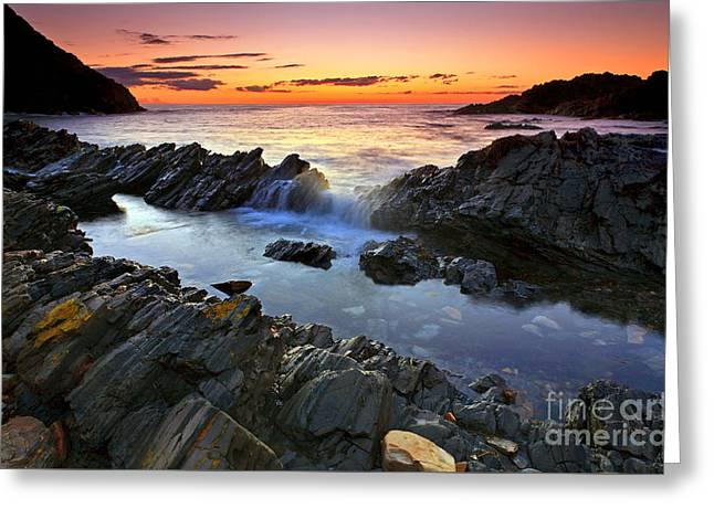 Fleurieu Greeting Cards - Second Valley Sunset Greeting Card by Bill  Robinson
