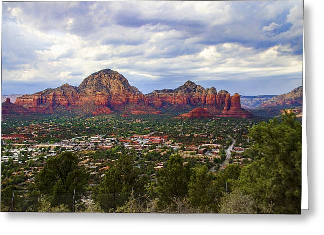 Oak Creek Greeting Cards - Sedona Arizona Greeting Card by Jon Berghoff