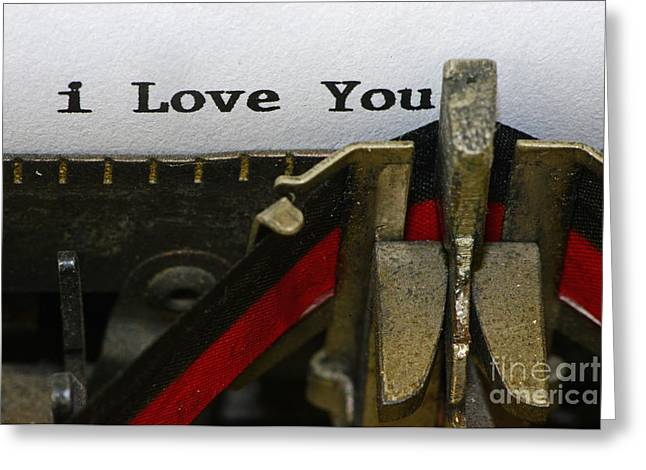 3 Simple Words Greeting Card by Paul Ward