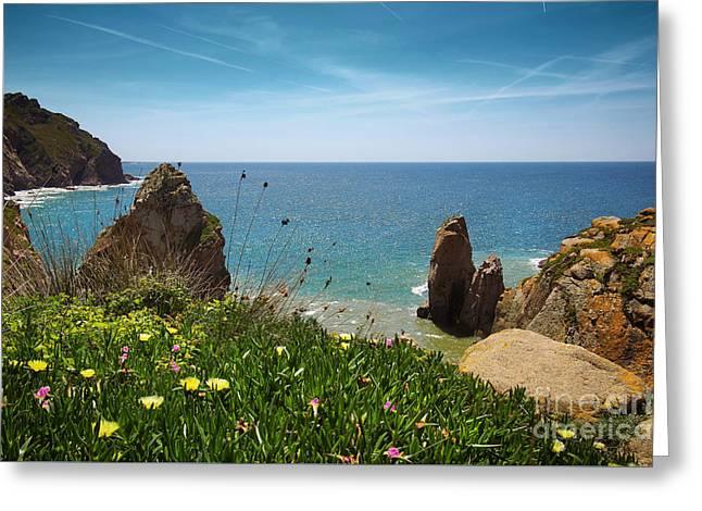 Sintra Coastline Greeting Card by Carlos Caetano