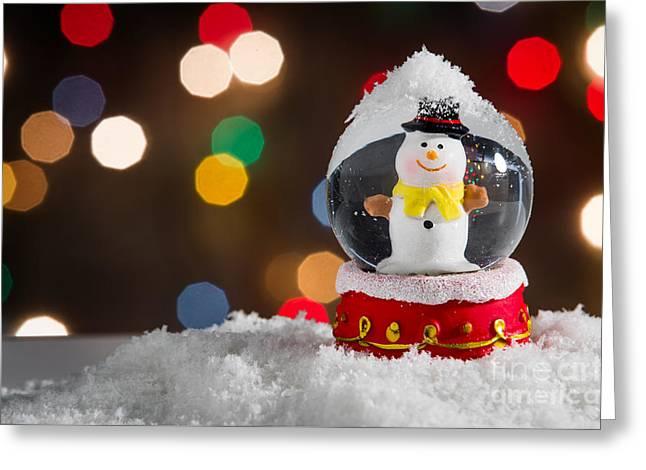 Snow Globe Greeting Card by Carlos Caetano