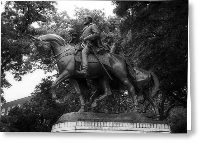 The General Lee Sculptures Greeting Cards - Statue of General Robert E Lee on His Horse Traveller  Greeting Card by Mountain Dreams