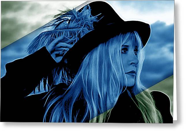 Stevie Nicks Greeting Cards - Stevie Nicks Collection Greeting Card by Marvin Blaine