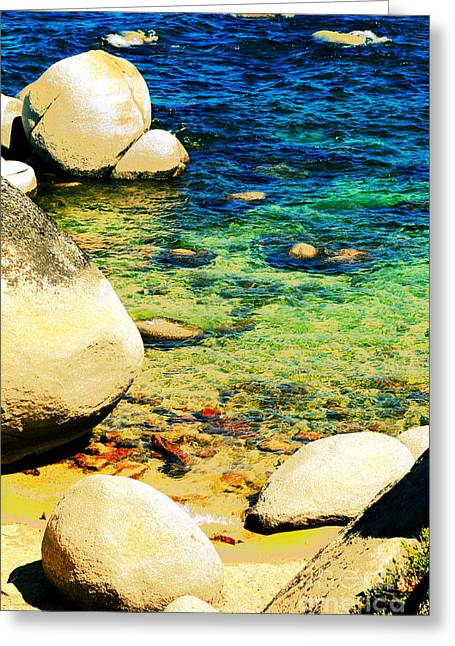 Snow Tree Prints Greeting Cards - Stone Talk Greeting Card by PlusO FineArt