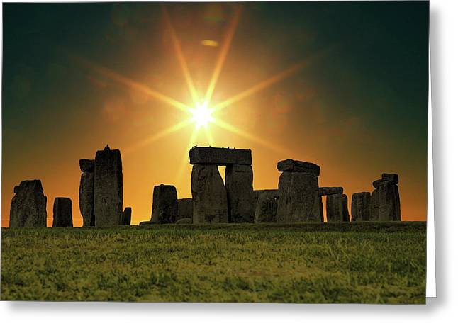 Stonehenge Greeting Card by Martin Newman