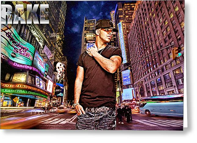 Street Phenomenon Drake Greeting Card by The DigArtisT